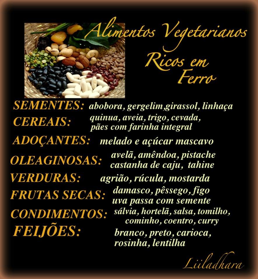 Alimentos ricos em ferro mandala dos sabores - Alimentos ricos en gluten ...