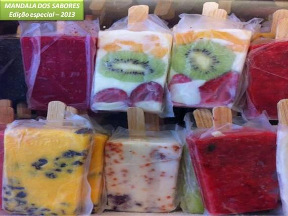 Picolé frutas