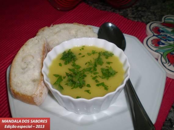 Sopa de batata salsa