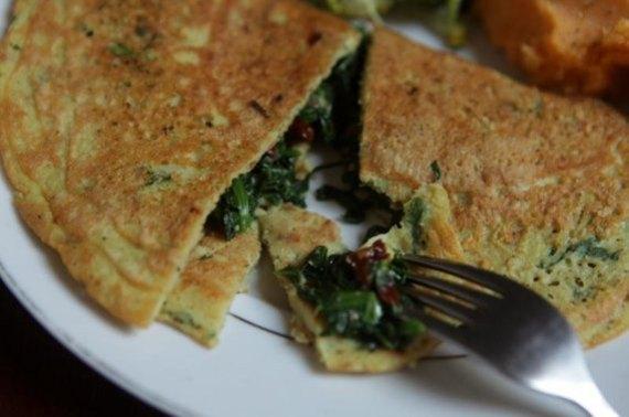 omelete de graão de bico