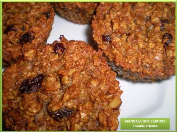 Cookie de maça e castanha