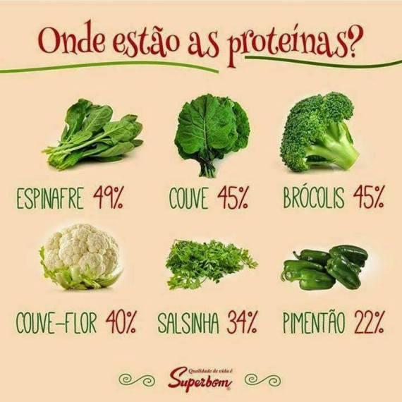 vegetais e próteínas